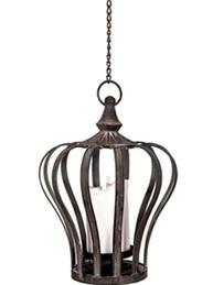 Ljuslykta hängampel Krona kungakrona metall hängande stor shabby chic lantlig stil