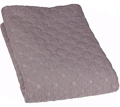 Överkast quilt ljusgrå 2 storlekar shabby chic lantlig stil