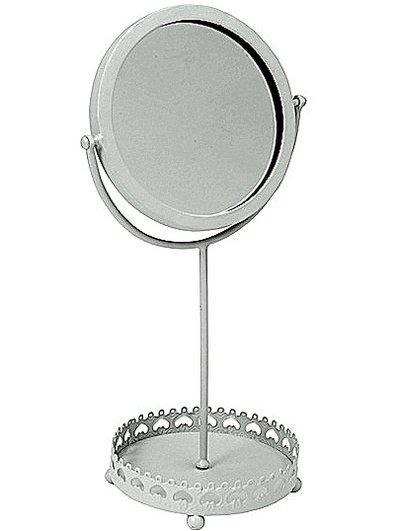 Antikvit spegel smide fot romantisk shabby chic