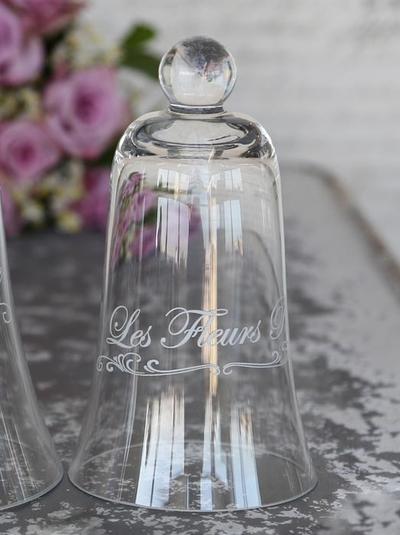 Glasklockor franskt tryck 2 storlekar