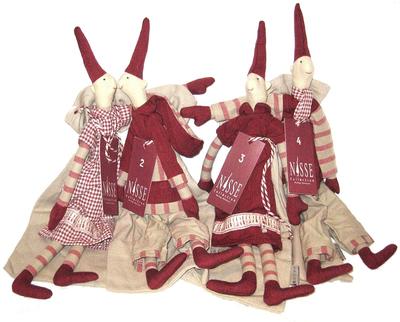 Pixie Adventsnissar med julsäck Medium Maileg