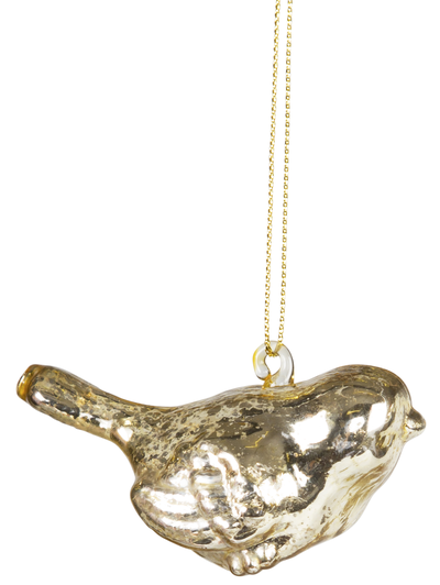 Glasfågel guld shabby chic lantlig stil
