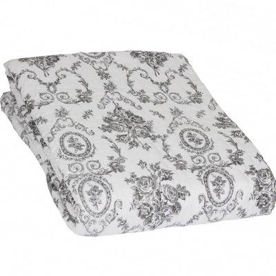 Kuddfodral quilt svart vit rosor shabby chic lantlig stil