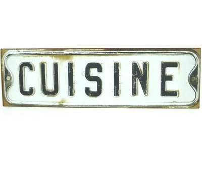 Cuisine Köksskylt i form av bilplåt shabby chic lantlig stil