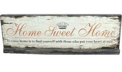Home Sweet Home träskylt shabby chic, lantlig stil