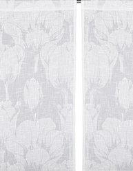 2 st Gardinlängder vit Tulpan shabby chic lantlig stil