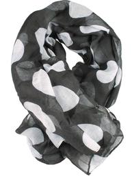 Scarves sjal svart vita stora prickar shabby chic lantlig stil