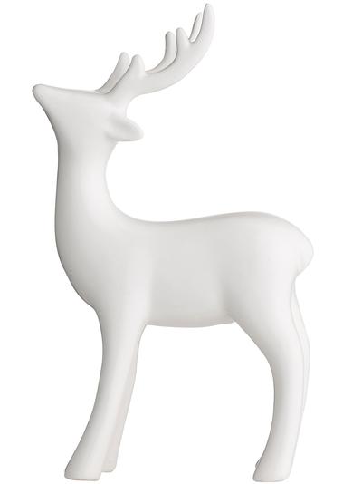 Ren hjort vit porslin shabby chic lantlig stil