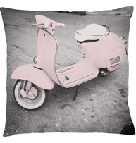 Kudde scooter vespa rosa ljusrosa dimrosa kudde shabby chic lantlig stil