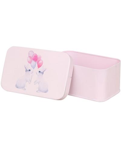 Rosa plåtask kaniner shabby chic lantlig stil