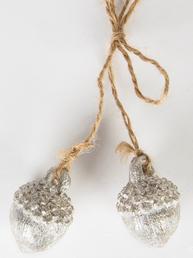 Hängande Ekollon silver shabby chic lantlig stil