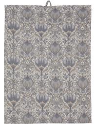 Handduk kökshandduk ljusgrå blå Morris shabby chic lantlig stil
