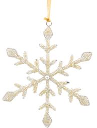 Gammeldags pynt stor kristall av pärlor shabby chic lantlig stil