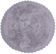 Virkad spets spetskant rund stor grå matta badrumsmatta lantlig stil shabby chic
