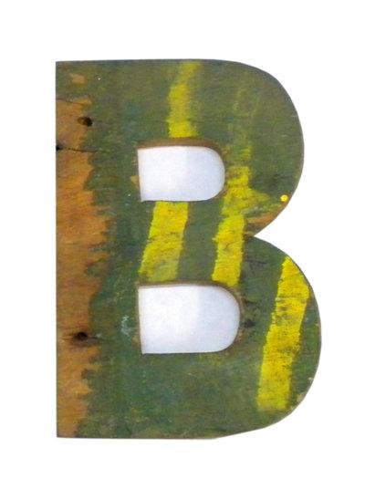 Handgjorda träbokstäver bokstav återvunnet trä unika industristil shabby chic lantlig stil
