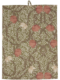 Handduk kökshandduk grön rosa Pimpernel shabby chic lantlig stil