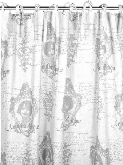 2 st Knytbandslängder vita Chic Antique shabby chic lantlig stil fransk lantstil