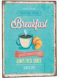 Plåtskylt skylt Breakfast shabby chic lantlig stil shabby chic lantlig stil