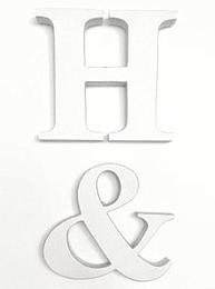 Stora bokstäver i shabby chic vitmålat trä A-Z