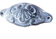 Skålhandtag zinkgrå antik stil ornament antikfärgat lantlig stil