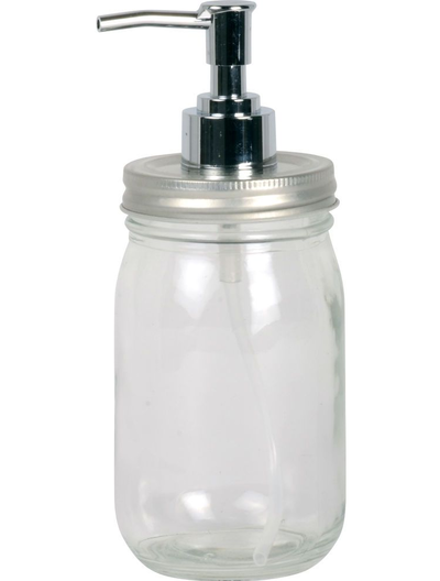 Tvålpump Crystal Clear jar glas lantlig stil fransk lantstil