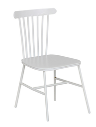 Stol pinnstol mini vit metall shabby chic lantlig stil