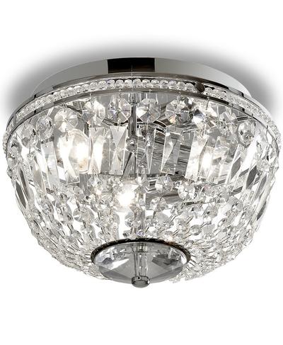 Kristalllampa kristallkrona badrum silver våtrum