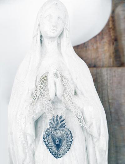 Litet dekorationshjärta votive zink Jeanne d´Arc Living shabby chic lantlig stil