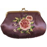 Sminkväska Country Style ros satin romantisk Lavendel shabby chic lantlig stil