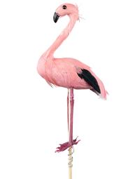 Fågel rosa flamingo dekoration shabby chic lantlig stil