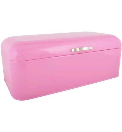 Ib Laursen stor Brödbox brödlåda rosa i emalj shabby chic lantlig stil