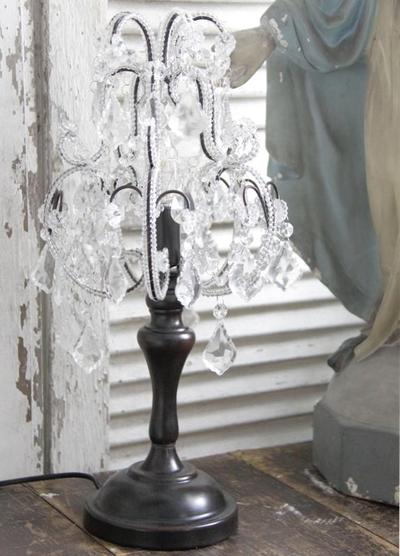 Kandelaber prismor i glas för el Jeanne darc Living