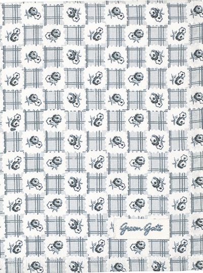 Handduk kökshandduk Johanna Grey Greengate shabby chic lantlig stil