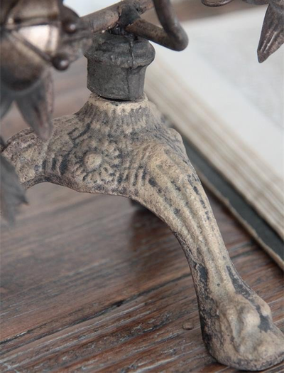 Stor Kyrko kandelaber i antik stil 7 armar shabby chic lantlig stil