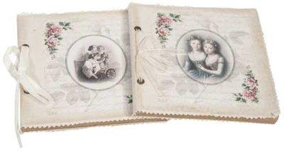 Anteckningsbok notebook Vintage 2 sorter shabby chic lantlig stil