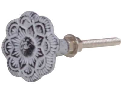 Metallknopp blomma järn shabby chic lantlig stil