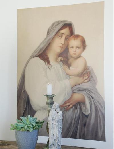 Poster Madonna med barn Jeanne darc Living madonna med barn