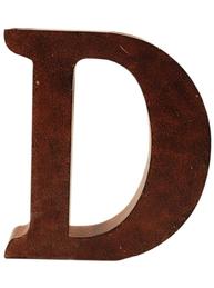D stor plåtbokstav bokstav rostbrun färg industristil