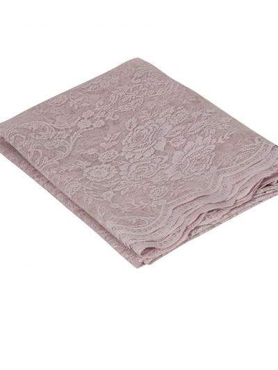 Rosa ljusrosa puderrosa gammaldags spetsgardinkappa rosor medaljong shabby chic lantlig stil