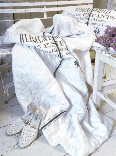 Överkast pläd quilt Alimente Jeanne d´Arc Living shabby chic lantlig stil