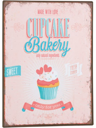 Plåtskylt skylt Cupcake Bakery shabby chic lantlig stil shabby chic lantlig stil