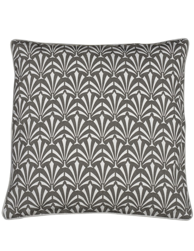 Kuddfodral grå Art Noveau shabby chic lantlig stil