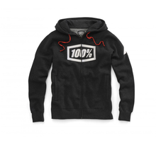 100%, SYNDICATE ZIP HOODED SWEATSHIRT, VUXEN, L, SVART