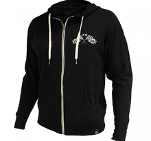 FASTHOUSE, FINISH LINE ZIP UP SWEATSHIRT, VUXEN, L, SVART