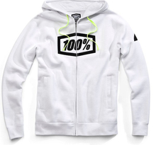 100%, SYNDICATE ZIP HOODED SWEATSHIRT, VUXEN, S, VIT