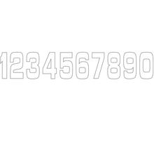 Siffror 10st, 11 X 5 cm, Vit 5