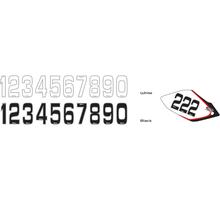 Siffror Små 10st,  14,5 * 7 cm Vit 0