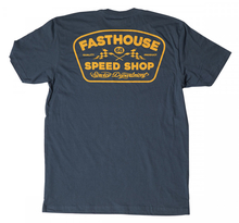 FASTHOUSE, T-SHIRT GREASE MONKEY, VUXEN, S, BLÅ