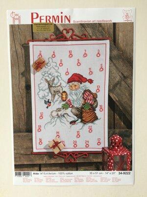 """Julkalender-""""tomte med rådjur"""""""