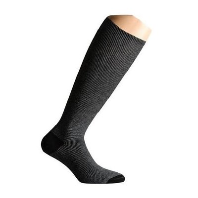 Support socks twist grey and black